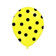 Žltý balón s čiernymi bodkami