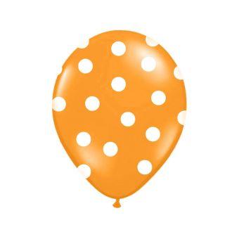 Balón s bodkami Pastel - oranžová a biela farba