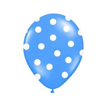 Balón s bodkami Pastel - modrá a biela farba