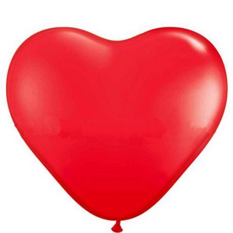 Balón srdce červené