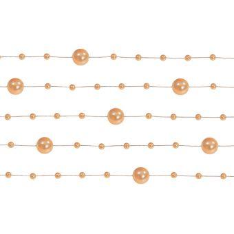 Girlanda perlová 1,3m oranžová