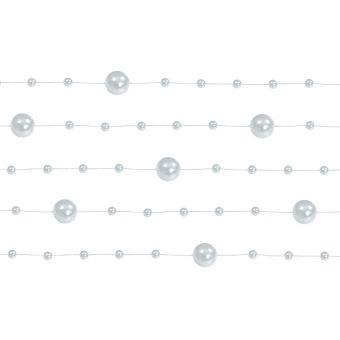 Girlanda perlová 1,3m strieborná
