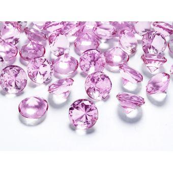 Ružové diamanty 20mm - ružová farba